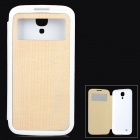 Goodlen Protective Walnut + PC Case for Samsung Galaxy S4 i9500 - Brown + White