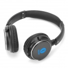 Bluetooth v3.0 + EDR Stereo Headphones w/ Microphone / TF - Black + Blue