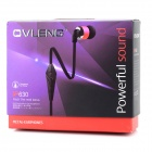 OVLENG iP630 In-Earphone Earphone w/ Microphone - Black + Deep Pink