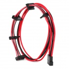 4-Pin Female to 5 x SATA 18AWG Power Extender Cable - Black + Red (70cm)