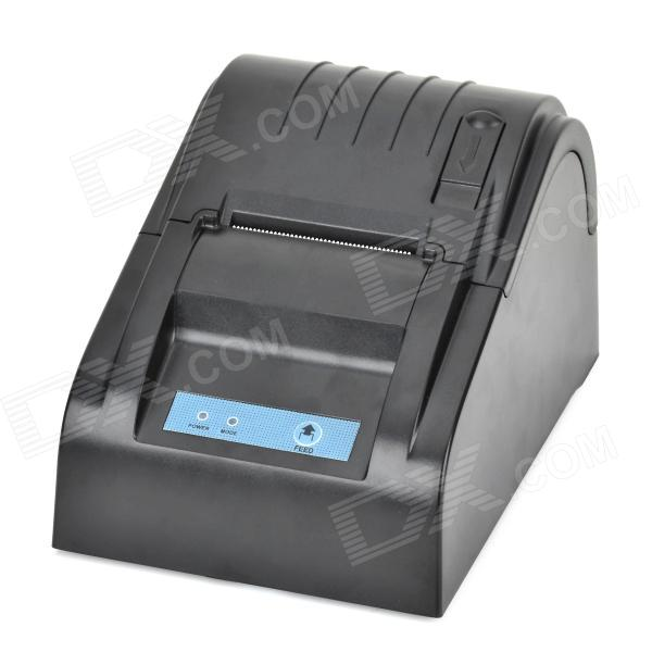 ZJ58 USB High Speed Receipt Printer for Supermarket - Black (3-Flat-Pin Plug)