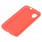 """X"" Pattern Stylish Silicone Back Case for LG Nexus 5 - Red"