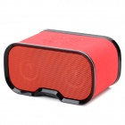Imarku Q7 Bluetooth 3.0 Speaker w/ Microphone for Ipad + Iphone + More - Black + Red
