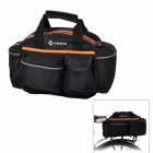 INBIKE IB681 Bicycle Rear Back Luggage Carrier Bag / Single Shoulder Bag - Black + Orange