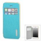 REMAX Protective PU Leather + PC Case w/ Stand for Iphone 5S - Blue