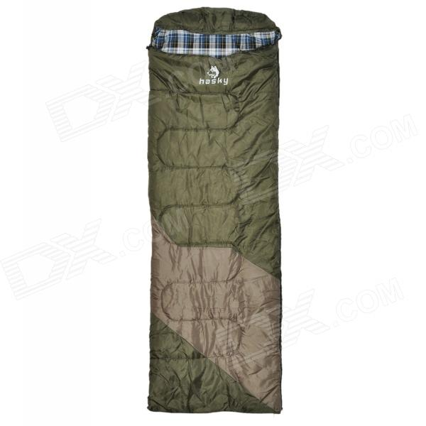 HASKY CY-0906-1 Convenient Outdoor Cozy Polyester Taffeta + Flannel Sleep Bag - Army Green