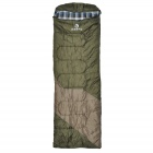 Buy HASKY CY-0906-1 Convenient Outdoor Cozy Polyester Taffeta + Flannel Sleep Bag - Army Green