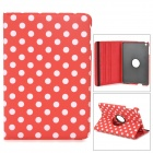 Polka Dot Style Protective PU Leather Case for Retina Ipad MINI - Red