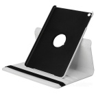 360 Degree Rotatable Protective PU + PC Flip Open Case w/ Stand for Ipad AIR - White
