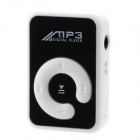 Mini Rechargeable MP3 Player w/ Clip / TF Slot - White + Black