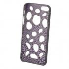 Stone Hollow Pattern Protective Plastic Back Case for Iphone 5 - Black