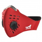 Acacia 060108 Bicycle Riding Dustproof Neoprene Face Mask - Red (XL)