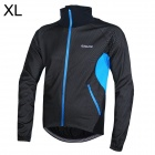 Outto Cycling Windproof / Rainproof Thicken Laminate Fabric Jacket for Men - Black + Blue (XL)