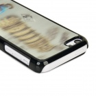 3D Classic Car + Tower Pattern Protective ABS + PC Back Case for Iphone 5C - Grayish White + Black