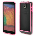 Protective Plastic Bumper Frame for Samsung Galaxy Note 3 - Pink + Transparent