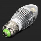 YouOkLight E27 5.5W 380lm 3500K 28-SMD 2835 LED Warm White Light Corn Light - White + Silver