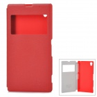 NILLKIN Protective PU Leather + PC Case w/ Display Window for Sony L39h Xperia Z1 - Red