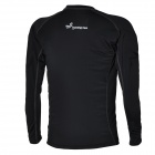 Outto Men's Sports Tight Long-Sleeved Shirt - Black (Size XXL)
