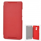 NILLKIN Stylish Flip-Open PU + PC Case for HTC 8088 / One Max - Red