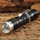 UltraFire LZZ-0517 100lm 1-Mode White Zooming Flashlight w/ Cree XP-E Q5 - Black + Silver (1x14500)