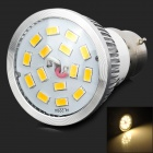LeXing LX-SD-010 B22 6W 500lm 3500K 15 SMD 5630 LED Warm White Light Spotlight - Silver + Yellow