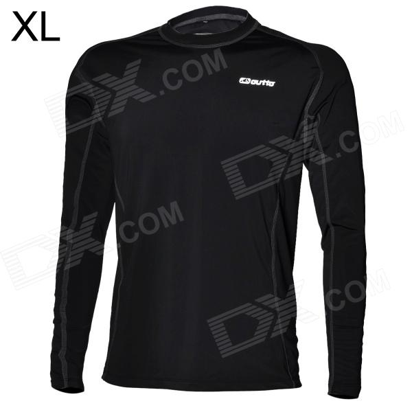 Outto Sports Tight Long-Sleeved Shirt - Black (Size XL)