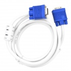 HDB15P VGA Male to Male Connection Cable - White + Blue (1.8m)