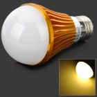 HESION HS01007A E27 7W 630lm 3500K 7-LED Warm White Light Bulb - Golden (85~265V)