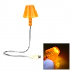 HK-L3009 1W 42lm 6-LED White USB Light - Orange + Silver + White