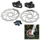 ALHONGA HJ-LATOO Aluminum Alloy Mountain Road Bike Bicycle Disc Brakes and Rotors Kit - Black