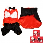 Magician Style Cotton Clothes for Pet Dog - Black + Red (M)
