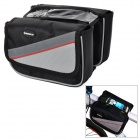 INBIKE IB219 Waterproof Bicycle Top Tube Double Bag - Black + Grey