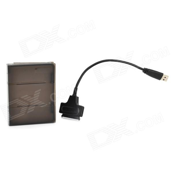 USB 3.0 naar SATA 22-Pin Adapter Kabel + SSD Case Set Zwart