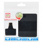USB 3.0 to SATA 22-Pin Adapter Cable + SSD Case Set - Black