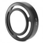 Lens Hood w/ Adapter Ring for Fujifilm FinePix X10 - Black