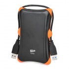 "SP A30 High Speed USB 3.0 2.5"" Mobile HDD - Black + Orange (500GB)"