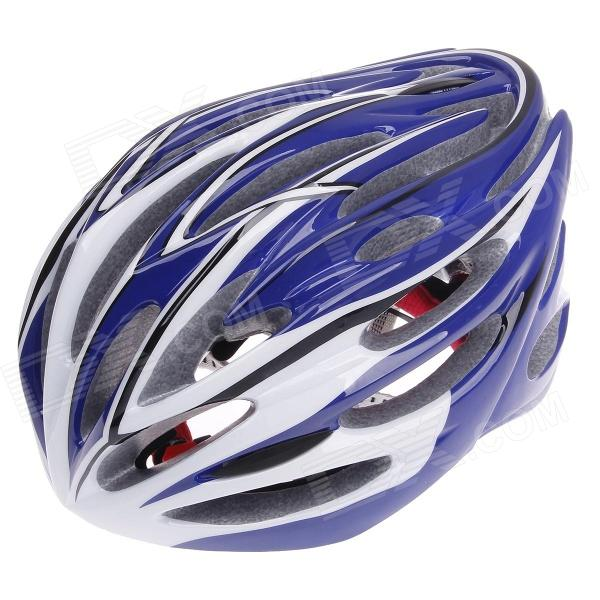 TITANS CG03DG-010 Outdoor Bicycle Cycling Helmet - Blue + Black + White (Size-L)