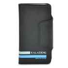 KALAIDENG Protective PU + Microfiber Case w/ Card Slots for Iphone 4 / 4S / 5 / 5c / 5s - Black