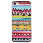 Fashionable Tribal Pattern Plastic Back Case for Iphone 5 - Multicolored