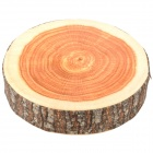 HQS-G106126 Round Wood Shape Back Cushion - Beige + Orange + Brown + Grey