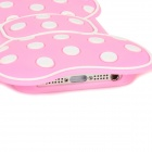 Bow Style Protective Silicone Back Case for Iphone 5 - Pink