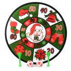Christmas Toy Cloth Dartboard w/ Darts Game - Green + Red + White