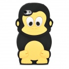 Monkey Pattern Protective Silicone Back Case for Iphone 5C - Black