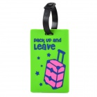 Travel PVC Luggage Suitcase ID Tag - Green + Black
