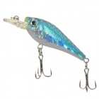 Lifelike Marine Fish Style 6-Hook Fishing Baits - Blue + Silver