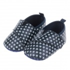 Cute Little Stars Style PU + Cotton Velcro Comfortable Baby Shoes - White + Black (3~6-Month / Pair)