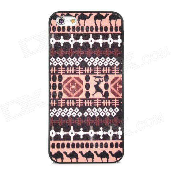 Tribal Pattern Protective Plastic Back Case for Iphone 5 - Multicolored kinston flowers butterfly pattern pu plastic case w stand for iphone 6 plus multicolored