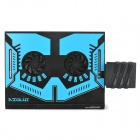 Evercool USB Powered Dual-Fan Cooling engrenagem estar w / Exaustor - Preto + Azul