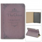 Elegant Protective PU Leather Case for Retina Ipad MINI - Purple
