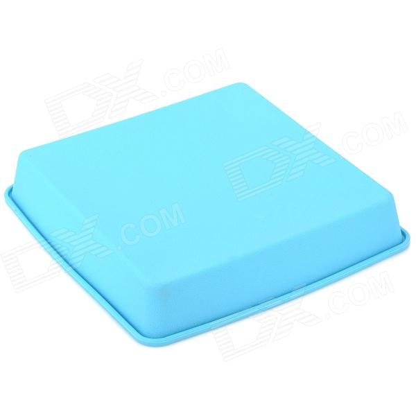 Square Shaped Soft Silicone Cake / Bread Mold Tray - Light Blue